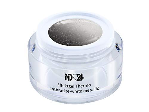 Uv Led Effekt-Gel Thermo Anthracite-White Metallic - Studio Qualität - Made In Germany - 5ml