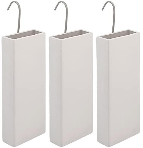 Luftbefeuchter für Heizung Set inkl. Haken - Keramik Wasserverdunster - beige matt - Wasserverdunster verdampfer verdunster Luftreiniger Heizkörper - Neutral - 3 Stück