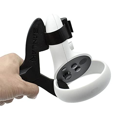 1 stücke Tisch Tennis Paddel Für Oculus Quest 2, Linke & Rechts Tisch Tennis Schläger Griff, VR Ping Pong Paddel Adapter für Spieltisch Tennis VR Spiel Zubehör