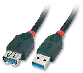 LINDY 31482 Verlängerungskabel Typ A auf A (2m, USB 3.0) schwarz