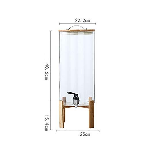 Water Flesje Ketel Sap Machine, Commerciële Drank Machine Sap Statief 304 Roestvrij Staal Kraan Bamboe Hout Basis Melk Drank blikje, Antislip Antislip