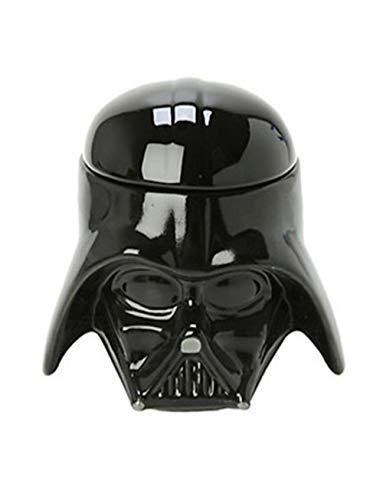 Star Wars Awesome Taza 3D cerámica negra Darth Vader Stormtrooper casco taza creativa tazas y tazas (negro)