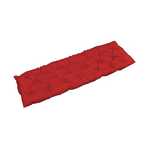 Gazechimp Cuscino per Panca Mobili da Giardino in Cotone Cuscino per divanetto Decorativo Morbido Spesso Confortevole Decorazione per Sedile Rimovibile - Rosso 120x50cm
