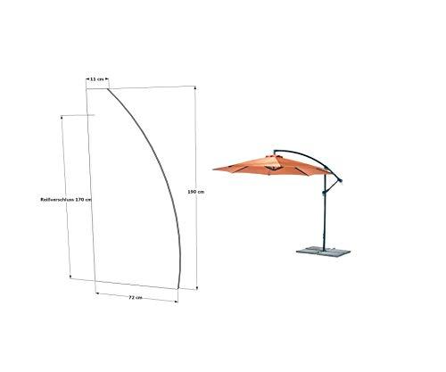 Grasekamp kwaliteit sinds 1972 beschermhoes parasol 3 m afdekking weerbescherming schermhoes wit