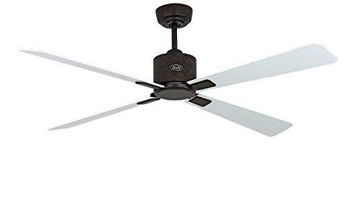 Energiebesparende plafondventilator Eco Neo II 132 cm Basaltgrijs vleugels lichtgrijs/wit