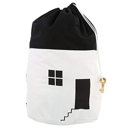 Lantro JS Spielzeug Aufbewahrungstaschen, Tragbare Aufbewahrungstasche für geruchloses Spielzeug, Aufbewahrungstasche für Kinderspielzeug mit großer Kapazität für die Tragetasche im Innen-(White)
