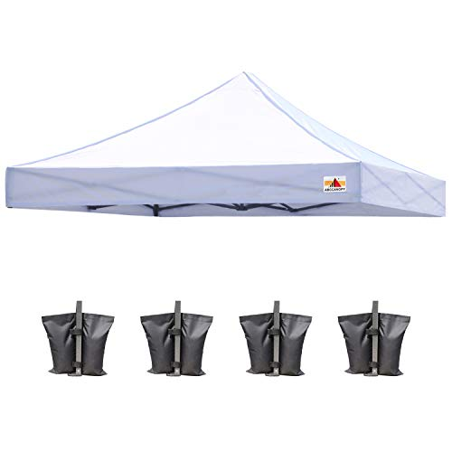 ABCCANOPY Replacement Canopy Top for Commercial Canopy Tent (10x10, White)