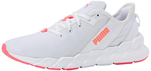 Puma Damen Weave XT Wn's Laufschuh, Weiß White-Ignite Pink-Fizzy Orange, 37.5 EU