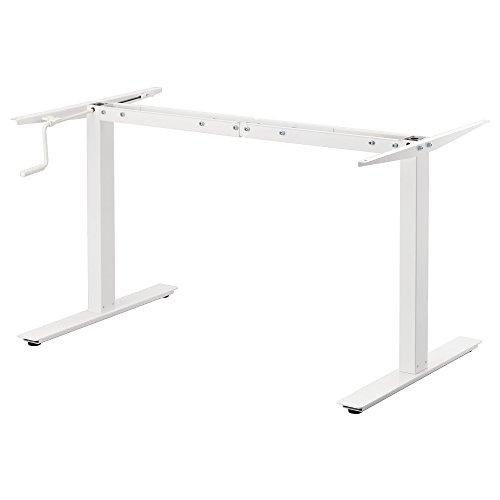 IKEA SKARSTA - Untergestell sitzen/stehen f Tischplatte Weiß