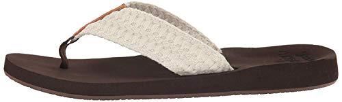 Reef Women's Cushion Threads Sandal, Vintage White, 5