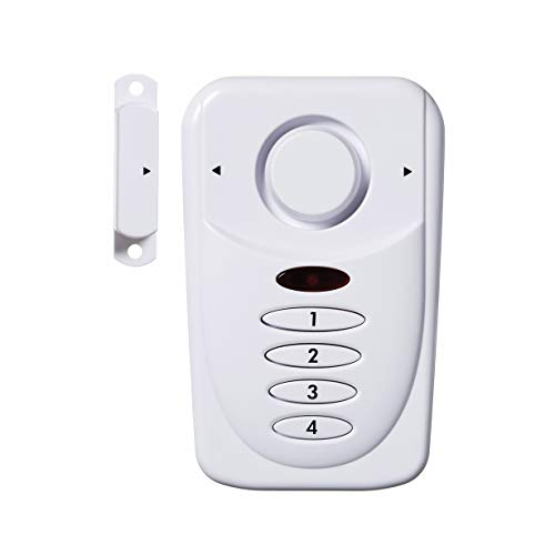 SABRE Wireless Elite Home and Commercial Door Security Alarm with LOUD 120 dB Siren and Exit Entry Delays - DIY EASY to Install