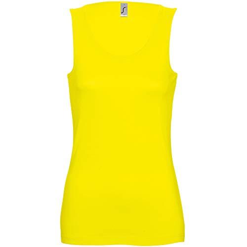 SOLS- Camiseta de Tirantes Jane para Chica/Mujer (L) (Amarillo Limón)
