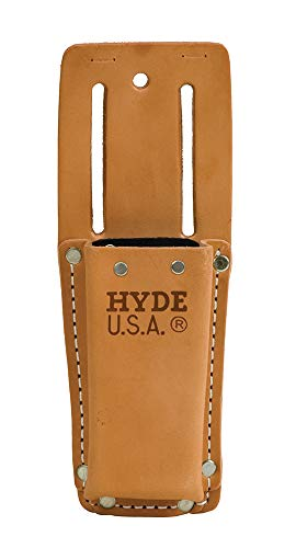 HYDE 42525 Heavy Duty Leather Angle Head Utility Knife Pouch...