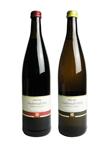 ファルツァー トラウベンザフト 赤・白 ノンアルコールワイン (ぶどうジュース) 2本セット
