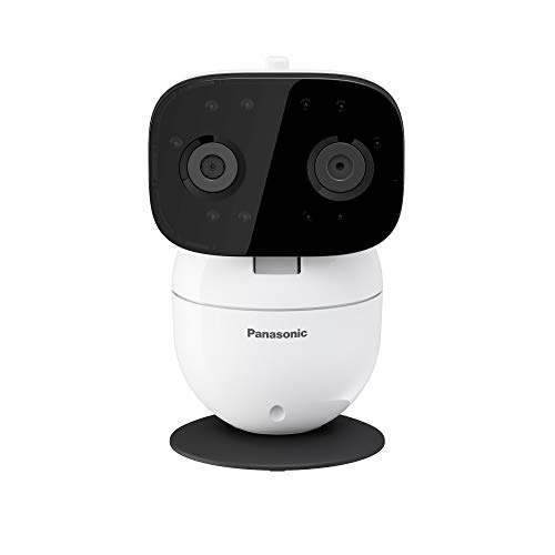 Panasonic Video Baby Monitor with Remote Pan/Tilt/Zoom, Extra Long Range, Secure Connection and Portable, 2 Way Talk & Lullaby or Noises – Add-On Camera KX-HNC301W