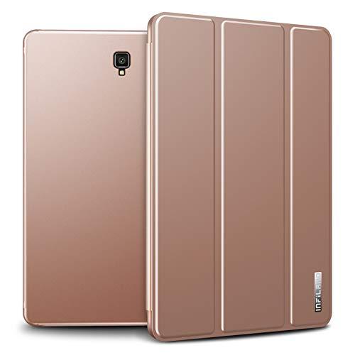 INFILAND Galaxy Tab S4 10.5 2018 Hülle Case mit S Pen Halter, Slim Ultraleicht PC Shell Schutzhülle Cover mit Auto Schlaf/Wach Funktion für Galaxy Tab S4 10.5 (SM-T830/SM-T835) 2018,Rosa Goldene