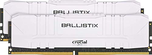 Crucial Ballistix BL2K8G26C16U4W 2666 MHz, DDR4, DRAM, Mémoire Kit pour PC de Gamer, 16Go (8Go x2), CL16, Blanc