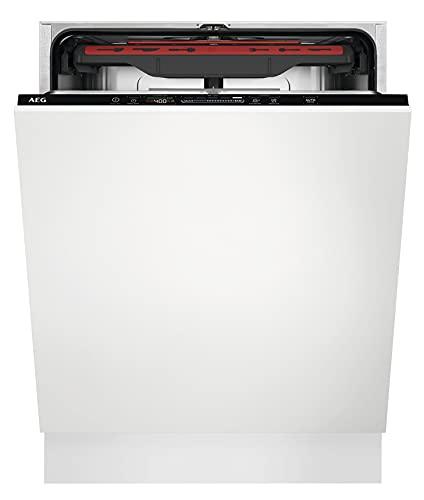AEG FSB53907Z Vollintegrierter-Geschirrspüler / 60cm / AirDry - ideale Trocknungsergebnisse / Effizienzklasse D / energiesparend / MaxiFlex Besteckschublade / QuickSelect Display / Wasserstopp