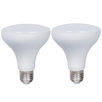 2-Pack Non-dimmable White Aluminum Housing LED R90 Light Bulbs E27 Base 12w (75w Equivalent) 180 Degree Beam Angel