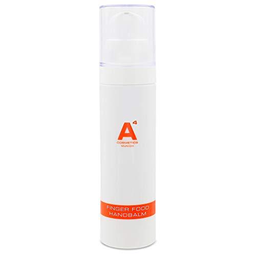 A4 - FINGER FOOD Hand Balm | Anti-Aging Handcreme | Handpflege auf Basis natürlicher Öle, Intensivpflege schützt trockene Hände, reduziert Falten (50ml)