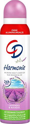 CD Deo Spray 'Harmonie', 150 ml, Deodorant ohne Aluminiumsalze, zuverlässiger Schutz für 24 h, Duft nach Lavendel & Mandel, für empfindliche Haut geeignet, vegan