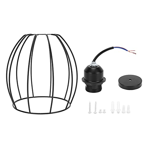 Soporte para Pantalla de lámpara, Adaptador de Bombilla con Forma de Jaula de pájaro Soporte para lámpara Resistencia a Altas temperaturas Instalación Simple con lámpara de Calibre E27 para