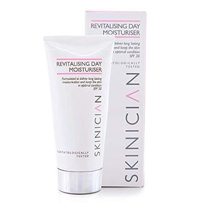 Revitalising Anti Aging Face Cream Moisturiser For Women - Salon Professional Skincare with Vitamin E + Anti Wrinkle Hydrating Agents - Lightweight SPF30 Cream For Normal & Sensitive Skin (50ml) by Skinician