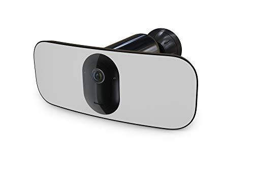 Arlo Pro 3 Floodlight cam Black, caméra de surveillance Wifi sans fil en 2K avec éclairage connecté intégré jusqu'à 7m.Etanche, vision nocturne couleur. Audio bidirectionnel. Avec batterie (FB1001B)