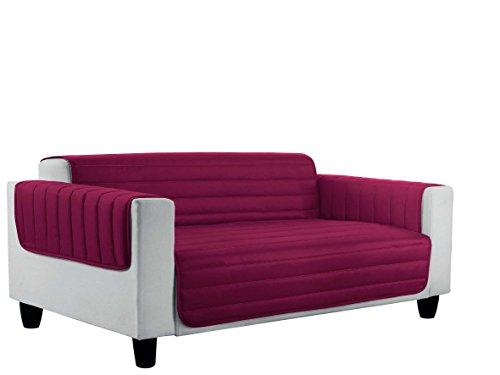 Datex Funda Cubre sofà Elegant Burdeos/Gris Oscuro 60 x 95 cm