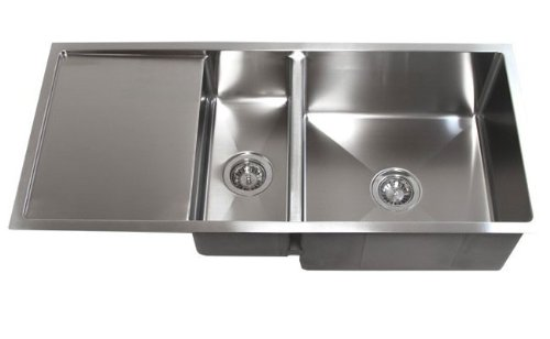 42 Inch Stainless Steel Undermount Double Bowl Kitchen Sink With Drain Board Buy Online In India At Desertcart In Productid 19615667