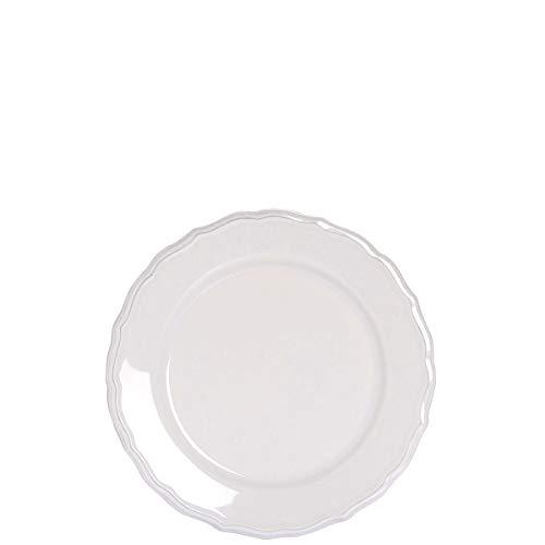 BUTLERS Eaton Place Klassischer Salatteller aus Keramik Ø 22 cm - Weißer Teller in romantischem Stil - Geschirr-Set