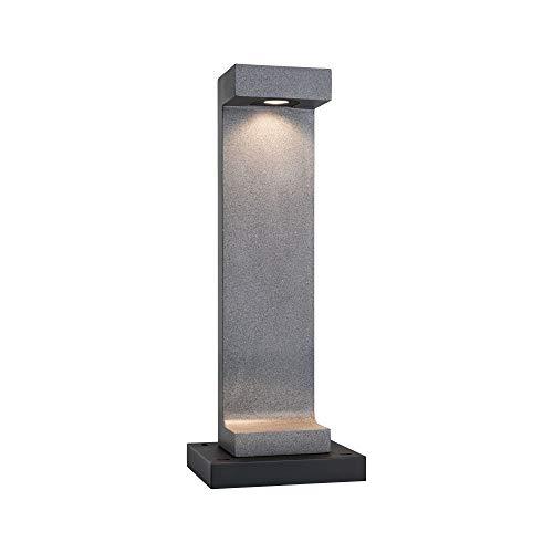 Paulmann 94502 LED Außenleuchte Poller Concrea IP44 incl. 1x6,8 Watt Pollerleuchte Sandstein Gartenbeleuchtung Beton 3000 K