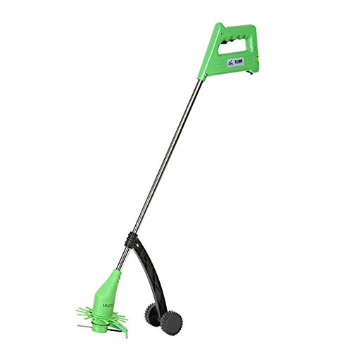 Best Review Of REWD Cordless Strimmer with 2.0 Ah Battery Electric Grass Home Trimmer with Auxiliary Wheel Lightweight Lawn Mower,12cm Cutting Diameter,Grass Edger Lawn Cutter,for Lawn Care Home Garden
