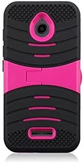 JFXONEHybrid Scratch Resistance Armor Case Cover for Alcatel One Touch PIXI Avion LTE A570BL A571VL (Black Pink)