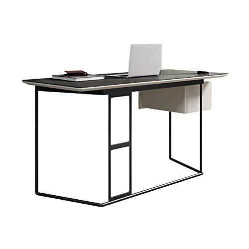 Estudio moderno de escritorio de pizarra minimalista ORDENADOR PERSONAL Estación de trabajo 23.2 'Estudio de lujo ligero de lujo de la tabla con cajones de doble cajones marco de metal estable