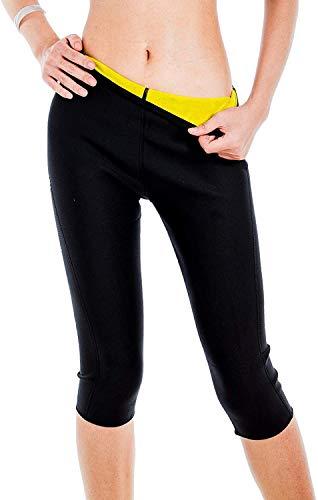 joyvio Sauna para Mujer Pantalones adelgazantes Body Shaper para Bajar de Peso Sudor Gordo Leggings de Neopreno Entrenador de Cintura (Color : Black, Size : XX-Large)