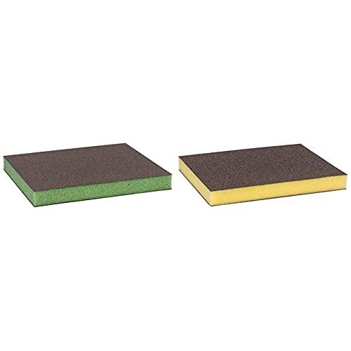 Bosch Professional 2608608231 Esponja S473 Profile Fina, Superfino + 2608608230 Esponja S473 Profile Fina (Madera, Plástico Y Metal, 98 X 120 X 13 Mm, Accesorios para Lijado A Mano), Fino