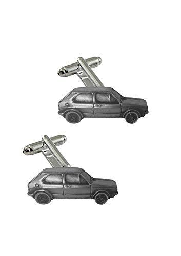 Manschettenknöpfe mit klassischem Auto Golf GTI MK1 ref299 Zinn Effekt