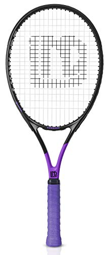 LUNNADE Adults Tennis Racket 27 Inch, Shockproof Carbon Fiber Tennis Racquet Light-Weight, Pre-Strung and Regrip, Suitable for Beginners to Intermediate Players -  TR01-purple