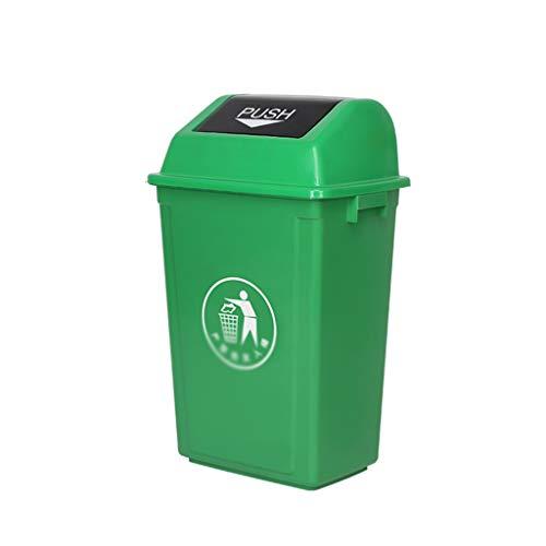 C-J-Xin Outdoor Trash Can, Shatterproof Großer Eindickung Kunststoff-Recycling-Behälter Street Park Müll Sorting Box Verschiedene Größen Hohe Kapazität (Color : Green, Size : 32.5 * 45 * 74.5CM)