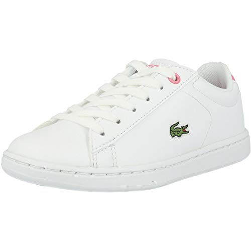 Lacoste Unisex-Child Carnaby EVO BL 2 SUC Sneaker, Weiß (B53 White/Pink), 29 EU