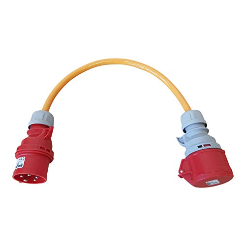 Kober-Elektrotechnik Adapterleitung Phasenwender 16A, ca 0,5m Baustellenkabel H07BQ-F 5G2,5mm²