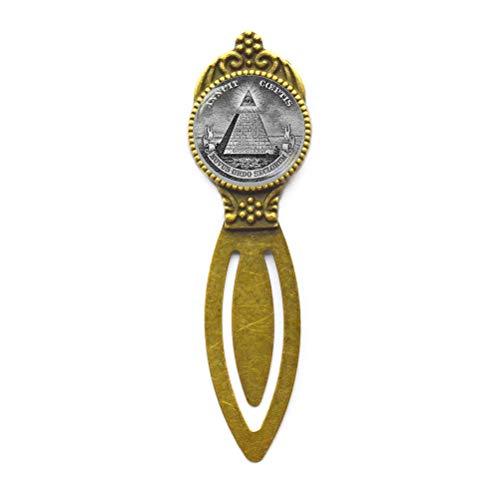 Annuit Coeptis Bookmark, Masonic All Seeing Eye Pyramid, Masonic Bookmarker, Eye of Providence Bookmarker, Sacred Geometry Bookmark,M211