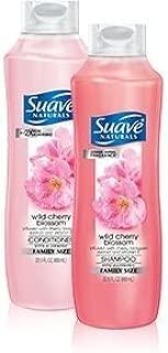 Suave Naturals Shampoo & Conditioner Set, Wild Cherry Blossom, 30 Ounce Each ...