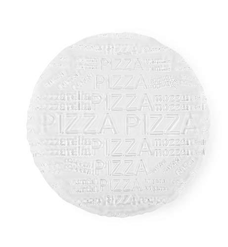 Excelsa Passion Set 6 Piatti Pizza, Diametro 33 cm, Vetro, Trasparenti