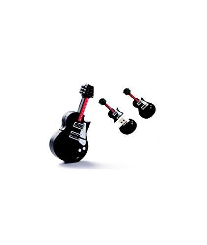 Set di 10 chiavette USB portachiavi chitarra 4 GB – Bomboniere originali per invitati di battesimo, regali di comunione e ricordi per compleanno