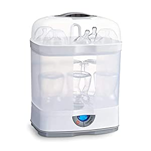Chicco SterilNatural Esterilizador de Biberones 3 en 1, Esterilizador Natural de Vapor para Microondas con 3 Configuraciones, Rápido y Fácil de Usar, Hasta 6 Biberones de 330 ml o Chupetes, Blanco