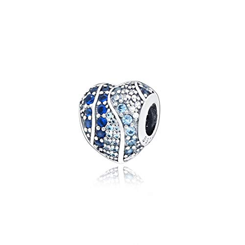 Pandora 925 colgante de plata esterlina DIY Classic Heart Of The Sea Charm Beads fit Pulseras Wo n Jewelry
