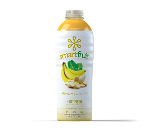 Smartfruit Sunny Banana, 100% Real Fruit Smoothie Mix, No Added Sugar, Non-GMO, No Additives, Vegan, Family Pack 48 Fl. Oz (Pack of 1)
