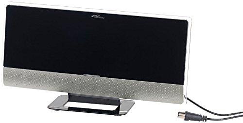 auvisio DAB Fernsehantenne: Aktive Design-Zimmerantenne für DVB-T2, 32 dBi, LTE-Filter (DAB Antennen)